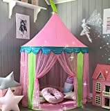 "Kids Tent Princess Castle for Girls - Glitter Castle Pop Up Play Tent with Fairy Stick and Tote Bag- Children Playhouse Toy for Indoor and Outdoor Game 41' X 55""(DxH)"
