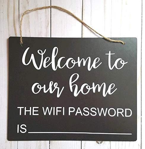 CELYCASY WiFi Password Welcome to You Home La password WiFi Lavagna Decorazione per la casa...
