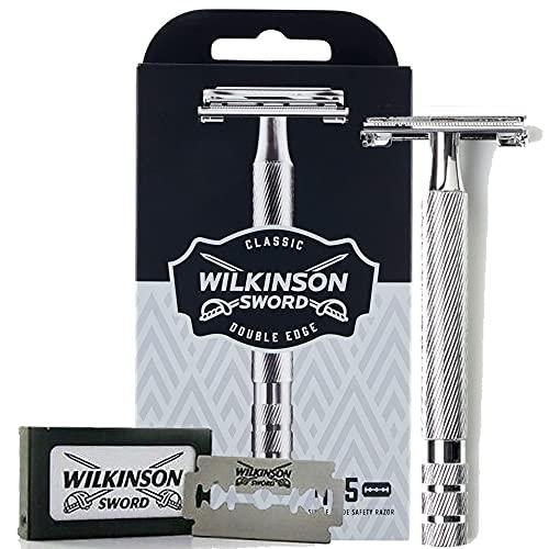 WilkinsonSword - Rasoio Classic Premium - Edizione Vintage - Lama a Doppio Taglio per Uomo - Rasatura Classica - Confezione da 1 Rasoio