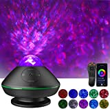 Star Projector with LED Ocean Wave, Klearlook Galaxy Light Projector with Remote Control, WiFi Smart App, Bluetooth Music Speaker Night Light Baby Projector for Bedroom Ceiling Home Theater