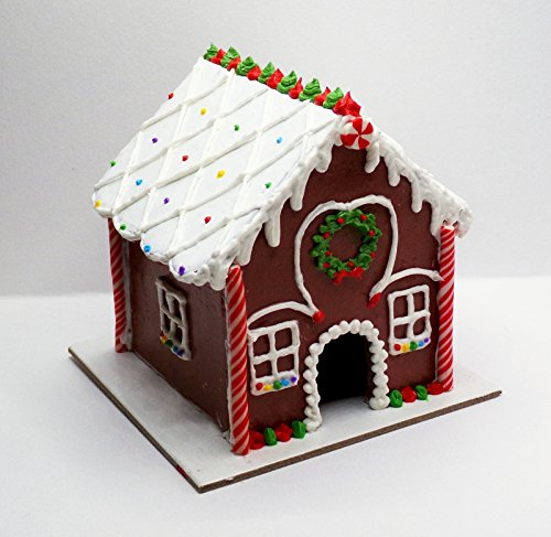 Christmas Gingerbread House Doll Food decoration for 14 inch and 18 Inch dolls American Girl, Journey Girls, Our Generation, Madame Alexander, Wellie Wishers, Hearts for Hearts, Glitter Girls Dolls