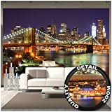 GREAT ART – Papier Peint – New York – Décoration murale – Pont de...