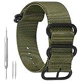AUTULET 24mm armée Verte de Style NATO Robuste Bracelet Exotique de Bande de...