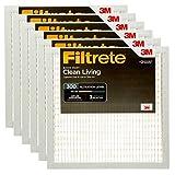 Filtrete BD02-6PK-2E Clean Living Basic Dust AC Furnace Air Filter, 6-Pack, 20 x 20 x 1, White, 6 Pack
