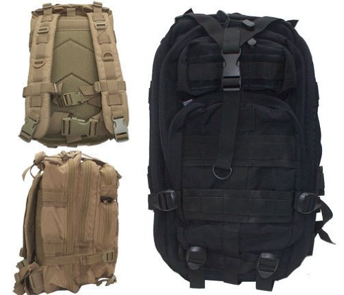 Level III Lv3 Molle Assault Pack Backpack--BLACK