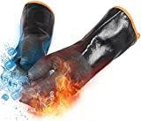 OYOGAA Grill BBQ Gloves, 932℉ Heat Resistant Oven Gloves Cooking Barbecue Gloves, Great for...