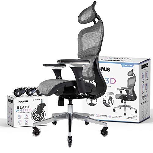 NOUHAUS Ergo3D Ergonomic Office Chair - Rolling...