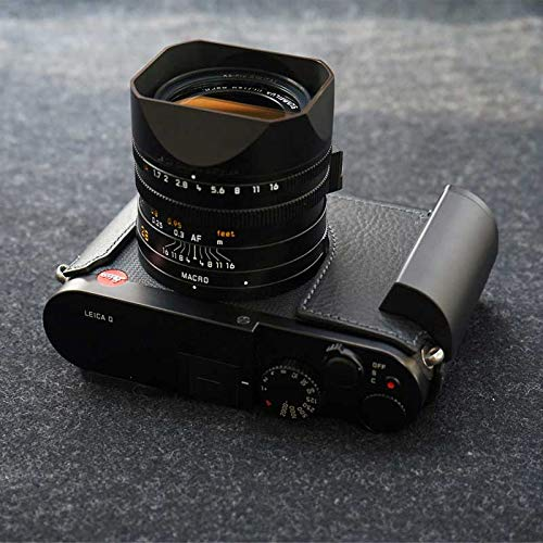 【日本正規販売店】LIM 'S LEICA Q用 ケース(Black ブラック)/Italian Genuine Leather Metal grip Half Case for Leica Q LE-HCLCAQBK/高級 高品質 本革 おしゃれ かっこいい リムズ