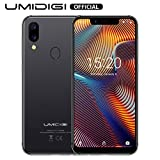 Téléphone Budget, UMIDIGI A3 Pro 2 Nano SIM + 1 MicroSD Téléphone Portable Débloqué, 3Go RAM+32Go ROM Smartphone 5,7 Pouces 4G Volte Android 9.0 Pie, 12MP + 5MP, Quad-Core, 3300mAh