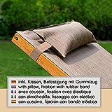 Relax Schaukelstuhl Rio, Relaxliege mit Armlehnen, Gartenmöbel aus vorbehandeltem Holz - 2
