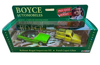 Only Fools and Horses Boyce Autos Diecast Capri & Trotter Van with SIGNED Booklet