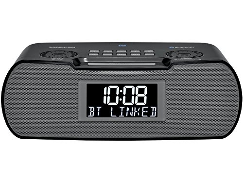 Product Image 1: Sangean RCR-20 FM-RDS (RBDS) AM / Bluetooth / Aux-in / USB Phone Charging Digital Tuning Clock Radio with Battery Backup, Black, 13.8x 13.1x 4.9