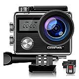 Campark Action Cam HD 20MP 4K WiFi Action Camera Touch Screen Macchina Fotografica Subacquea 40M con Custodia Impermeabile, Doppio Schermo LCD, Remote...