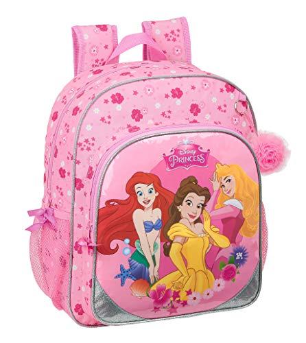 Safta Mochila Escolar Junior de Princess Disney Express Yourself, 320x120x380mm, Rosa, M