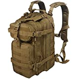 X&X 30l Tactical Hydration Backpack with Laptop Compartment,Small Molle Assault Backpack,Military Rucksack for Travel Outdoor(Bladder no Included)
