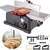 VEVOR Jointers Woodworking 6 Inch Benchtop Jointer 9000 RPM/min Jointer Planer Heavy Duty 1280W Benchtop Planer 156 mm Maximum Planing Width Wood Jointer Benchtop For Wood Cutting Thickness Planer