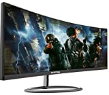 Sceptre 30-Inch 21: 9 Curved Creative Monitor C305W-2560UN 2560x1080p Ultra Wide Ultra Slim HDMI DisplayPort Up to 85Hz Mprt 1ms FPS-RTS Build-in Speakers, Machine Black 2020