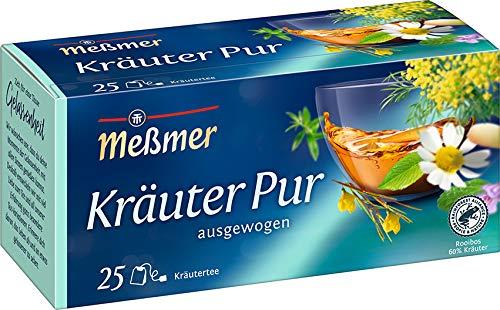 Meßmer Kräuter pur | 25 Teebeutel | Vegan | Glutenfrei | Laktosefrei