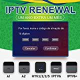 DOODOT IPTV Brazil Brazilian Renew Code, Activation Code for A1/A2/ HTV 1 2 3 5/IPTV 5 6,Subscription 16-Digit Renew Code, TV Box Brazil Code, for 400 Days,TV Box Brazil Code, A2 Renew Code,