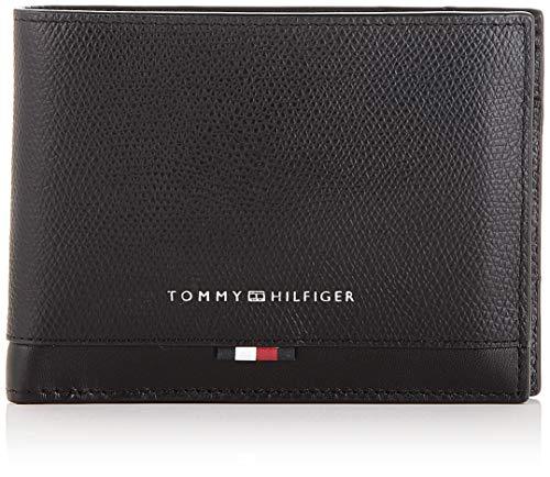 Tommy Hilfiger - Business Leather Extra Cc & Coin, Carteras Hombre, Negro (Black), 1x1x1 cm (W x H L)