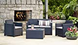 Allibert Merano Lounge Set grau Rattan - 5