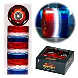 Sunset Skateboards Cruiser Wheel with ABEC-9 Bearing (4-Pack)