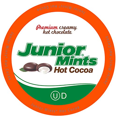 Tootsie Roll Junior Mints Chocolate Mint Hot Cocoa Pods, Compatible with Keurig Brewers, 40Count - Perfect Peppermint Hot Chocolate Gift