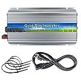 iMeshbean 1000W 110V Grid Tie Inverter 22V ~ 50V DC Input for 24V / 36V Solar Panel Pure Sine Wave Inverter Stackable