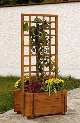 """GASPO Blumenkasten mit Rankhilfe \""""Hofgarten\""""   aus massivem Kieferholz   122 x 55 x 47 cm   Qualität made in Austria  einfaches Stecksystem"""
