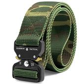 """Fairwin Tactical Belt, Military Style Webbing Riggers Web Belt with Heavy-Duty Quick-Release Metal Buckle, (Camo M 36""""-42"""")"""