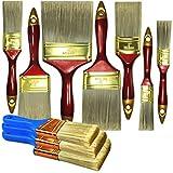 10 Piece Professional Painters Heavy Duty Paint Brush,Paint...