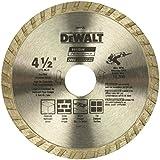 DEWALT Diamond Blade for Masonry, Dry Cutting, Continuous Rim, 7/8-Inch Arbor, 4-1/2-Inch (DW4725)