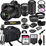 Nikon D850 DSLR Camera with 24-120mm VRand 70-300mm Lens Bundle + 128GB Card, Tripod, Flash, and...