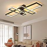 Lámpara LED de techo regulable para dormitorio salón decoración diseño moderno acrílico colores de techo lámpara para salón habitación de los niños cocina oficina lámpara con mando a distancia Negro