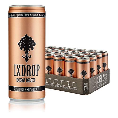 IXDROP Energy Deluxe Superfood Drink Dosen Getränke 24er Palette, EINWEG 24 x 250ml (1 Tray) inkl. Pfand