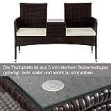 Merax Poly Rattan Garten Möbel Set Balkon Wohnzimmer - 3