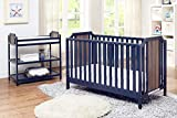 Suite Bebe Brees Convertible Island Crib in Midnight Blue and Vintage Walnut