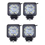 LARS360 4x27W Phare de travail LED Lumière de travail carrée Offroad...
