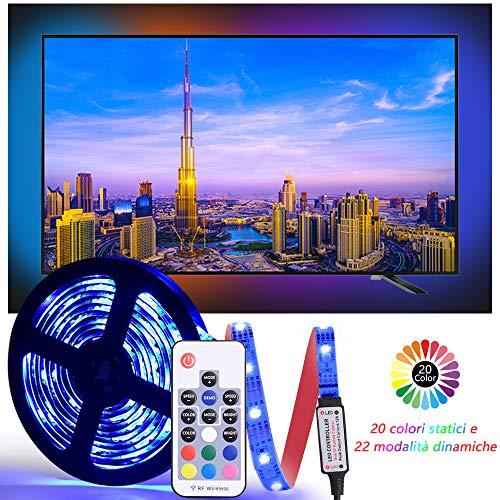 Diyife Retroilluminazione TV LED, [Nuova Versione] LED Striscia ad USB di Lunghezza 2.5M Striscia...