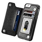 iPhone 6s Case, iPhone 6 Case, Hoofur Slim Fit Premium Leather iPhone 6 Wallet Casae Card Slots Shockproof Folio Flip Protective Shell for Apple iPhone 6/6s (4.7 Inch) (Black)