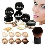 Set de maquillaje mineral NCinc para pieles claras, 8 piezas, tamaño mediano Brocha Kabuki incluida...