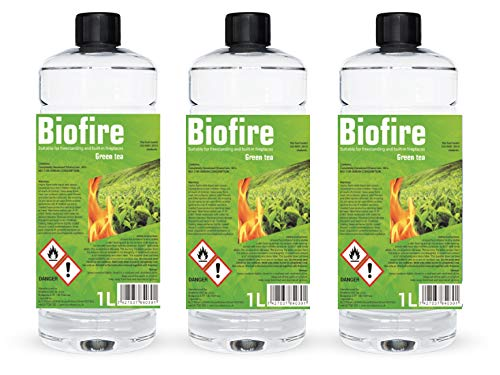 Bioethanol Scented Liquid Fuel Eco Line Premium Grade Quality, Clean Burn 1L Containers (Green Tea, 24L)