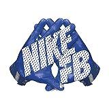 Men's Nike Vapor Jet 3.0 Football Gloves Game Royal/Gym Blue/White Size Large