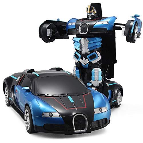 Pinjeer One Button Transformers Télécommande Voiture Cool Intelligent Voiture Électrique Robot Garçon Jouets Modèle De Voiture Cadeaux d'anniversaire Enfants 8+