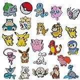 NANANANA Lot de 25 écussons brodés à repasser Motif Pokémon dessin animé...