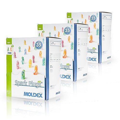 Moldex Spark Plugs Soft (7800) Lot de 200paires de bouchons d'oreille,...