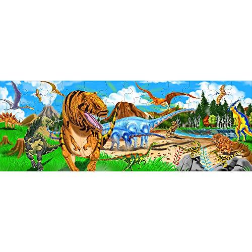 Melissa & Doug 10442 - Puzzle da Pavimento Terra dei Dinosauri