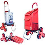 dbest products Stair Climber Trolley Dolly 2, Red Shopping Grocery...