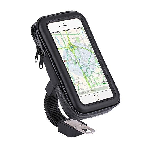 Motorrad Fahrrad Handyhalterung, 360 Drehbar Universal Wasserdichte für Smartphone, iPhone, Samsung, Sony, Navi UVM GPS(L)