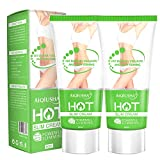 Hot Cream 2 Pack, Cellulite Slimming & Firming Cream, Body Fat Burning Massage Gel for Shaping Waist, Abdomen and Buttocks